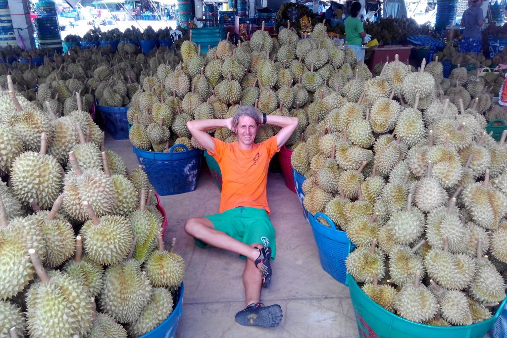 World's Largest Durian Market at the Fruitarian Adventure Retreat, Thailand [with Grant Campbell]